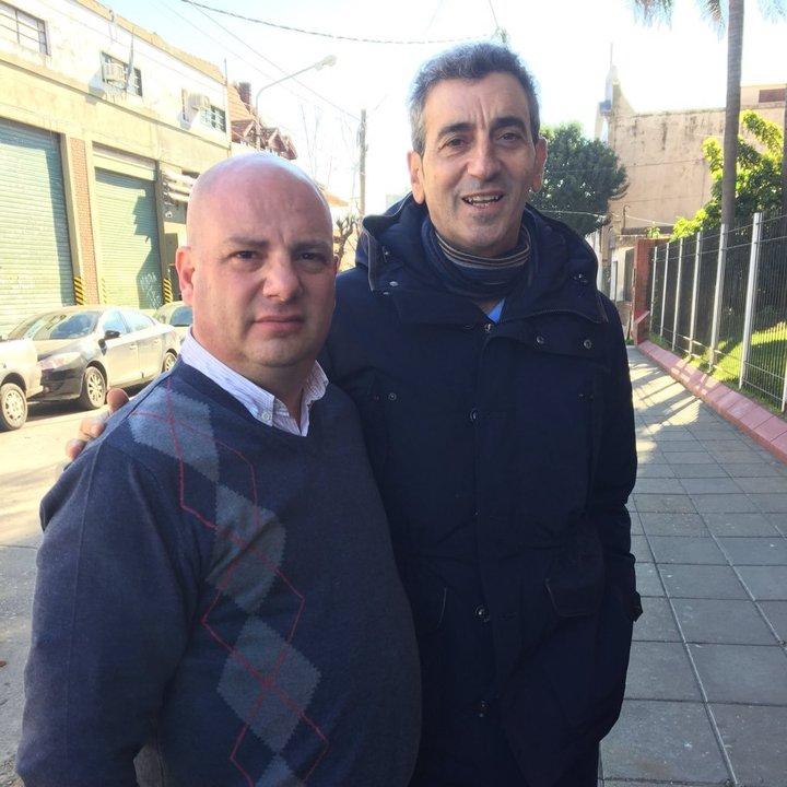 Martín Fiorillo con Florencio Randazzo recorriendo la Provincia en la campaña 2017.