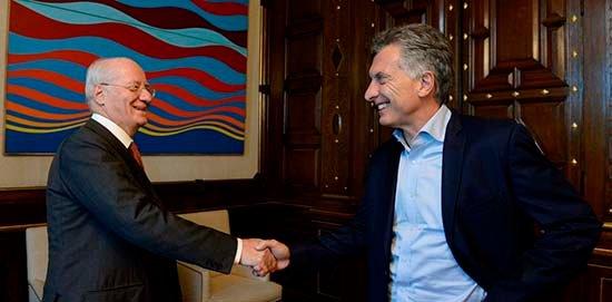 Paolo Rocca y Mauricio Macri, a principios de 2017.