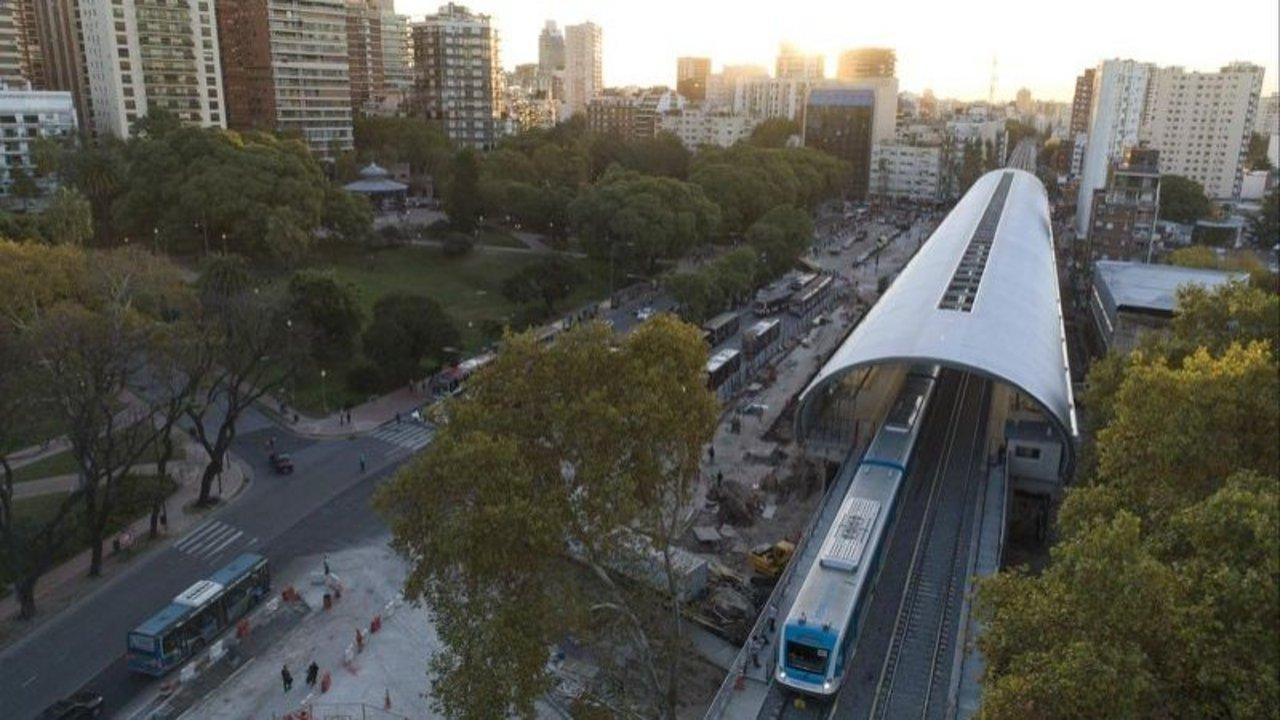 El viaducto del Ferrocarril Mitre en las Barrancas de Belgrano
