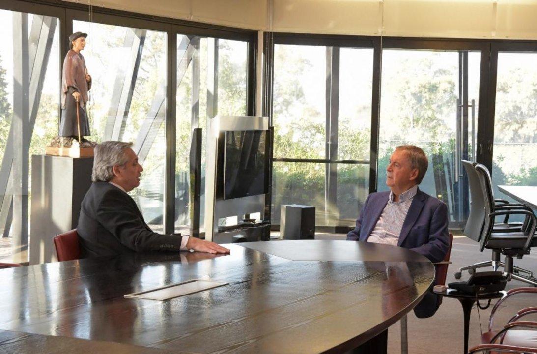 Resultado de imagen para Alberto Fernández visitó a Juan Schiaretti en Córdoba