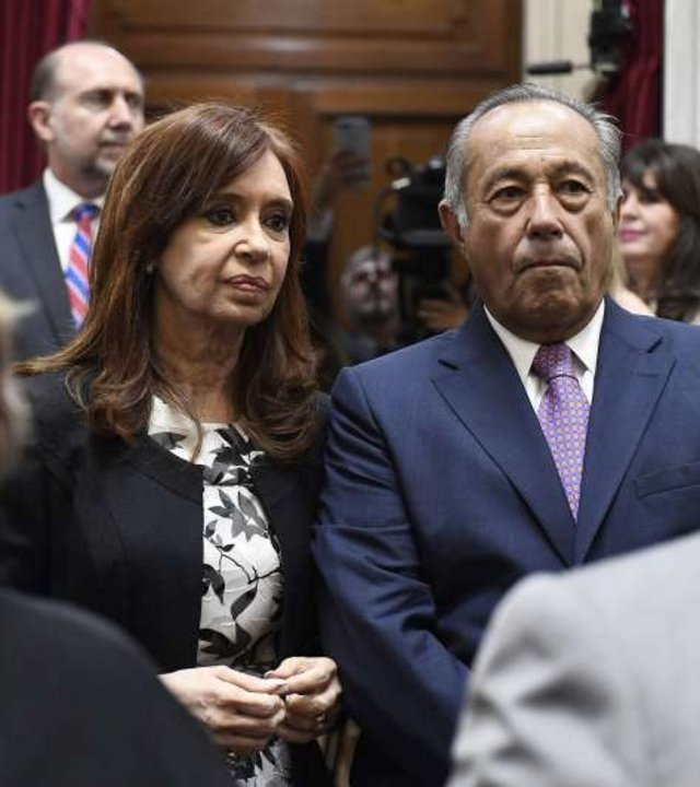 Cristina Fernández de Kirchner y Adolfo Rodríguez Saá
