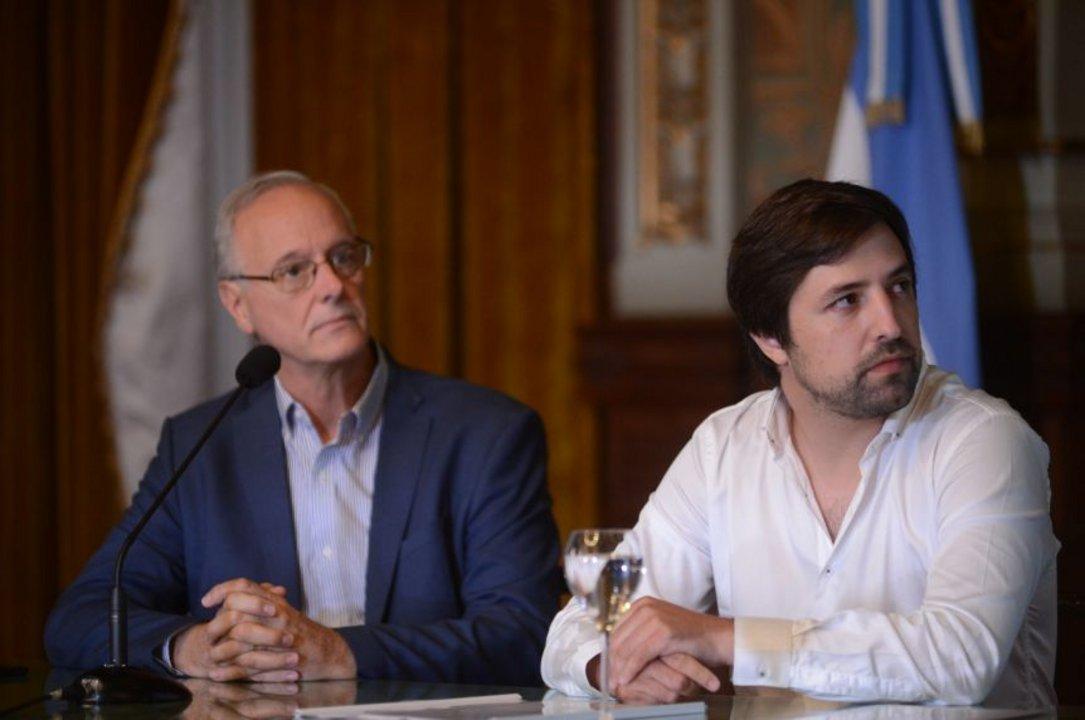Daniel Gollán junto a Nicolás Kreplak