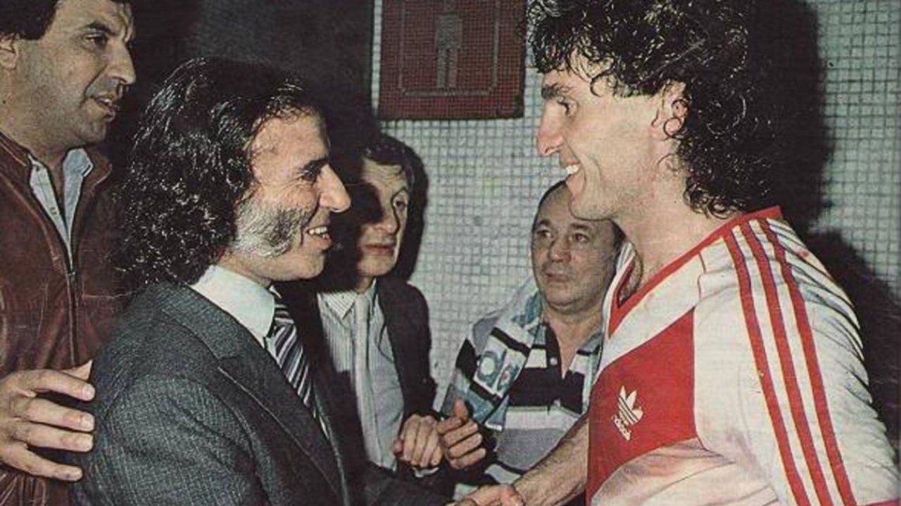 Oscar Ruggeri y el ex presidente Carlos Saúl Menem