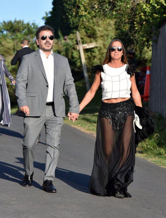 El ex ministro de Seguridad de la provincia de Buenos Aires, Cristian Ritondo, junto a su esposa