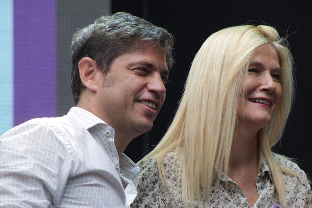 Kicillof y Magario en el acto de cierre 8M Foto: María Clara Rodríguez Barrera (@clararodriguezb)