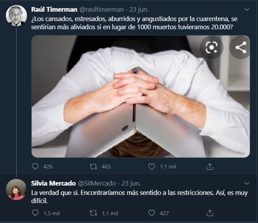 La respuesta de Silvia Mercado a Raúl Timerman que despertó la reacción de Kicillof