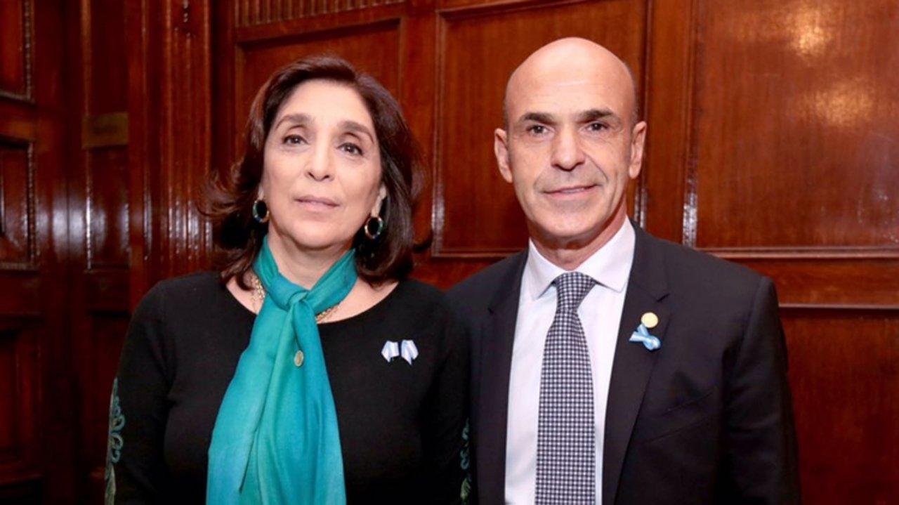 Las ex autoridades de la Agencia Federal de Inteligencia, Gustavo Arribas y Silvia Majdalani.